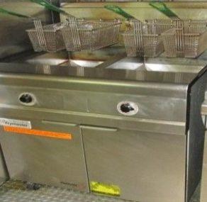 Fritteuse double au propane